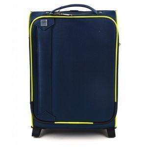 potovalni kovček lime barve spredaj go carpisa