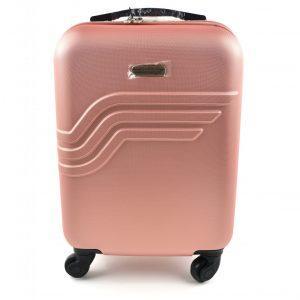 potovalni kovcek pink barve spredaj american travel queens-e
