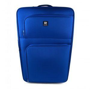 potovalni kovcek modre barve spredaj revelation alex