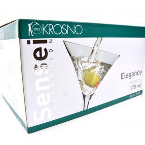 set 6 kozarcev za martini 170ml sensei collection krosno