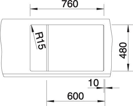 Pomivalno korito METRA 6 S Compact mere 2