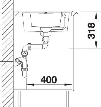 Pomivalno korito METRA 6 S Compact mere 4
