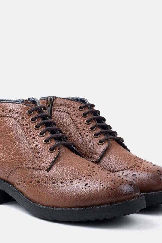 HANS usnjeni čevelj rjave barve